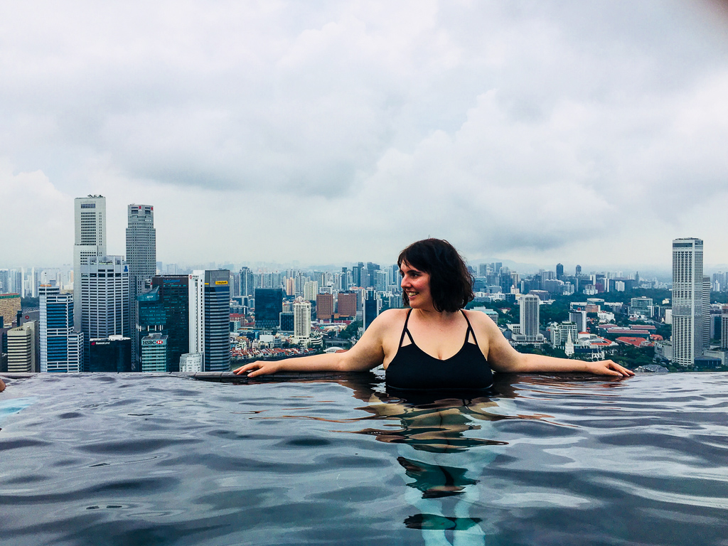 One perfect night at the Marina Bay Sands Hotel, Singapore