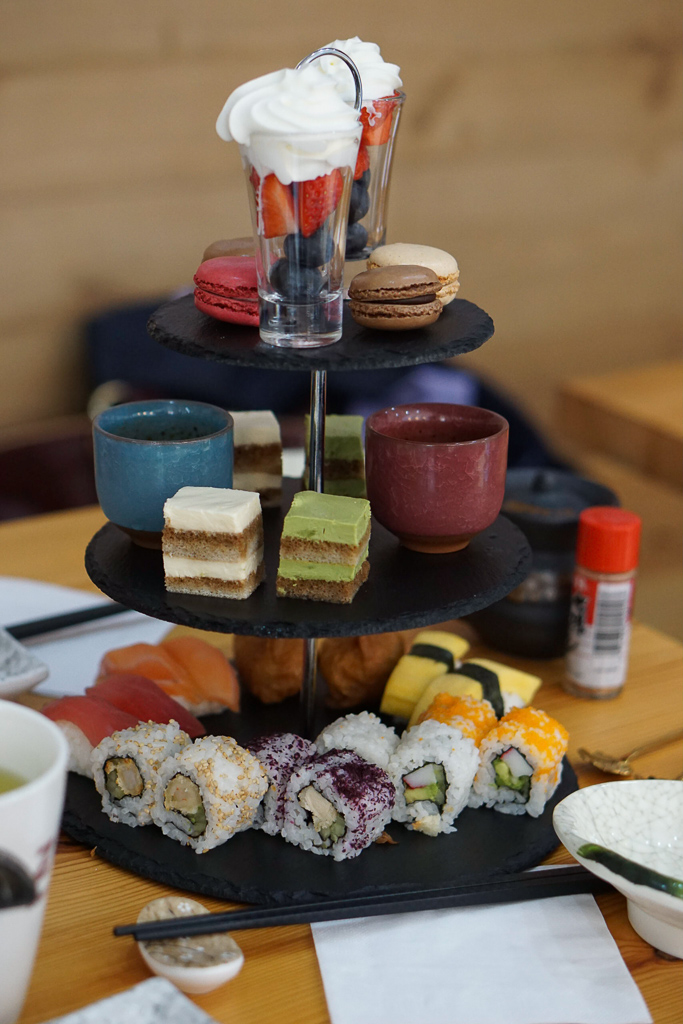 Japanese afternoon tea at Zoo Sushi, Stratford upon Avon